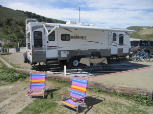RV rental set up: Avila Beach, CA